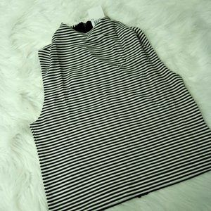 French Connection Striped Sleeveless Tank Top